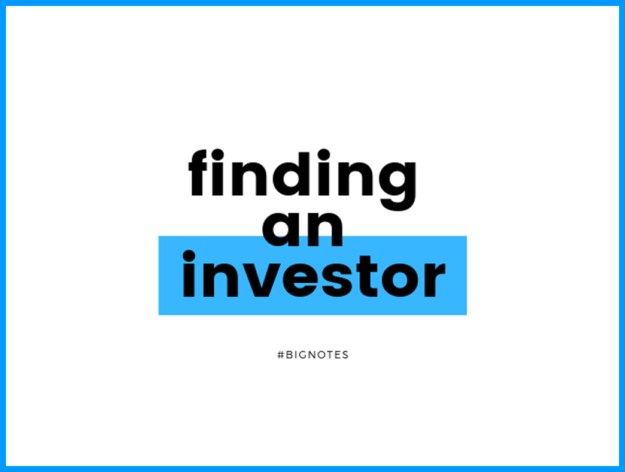 How to find an Investor
